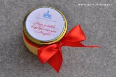 брендированная баночка мёда на 8 марта