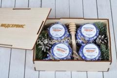 подарочный набор с 4мя видами меда