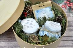 подарок на Новый год в коробочке из шпона