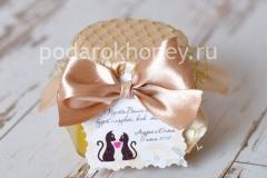 мед на свадьбу в бежевом оформлении