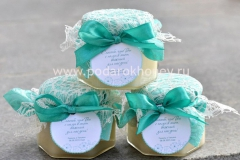 мед на свадьбу в стиле тиффани