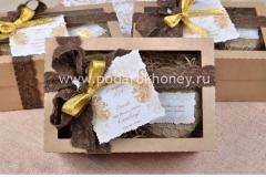 подарок на свадьбу коробочка для гостей