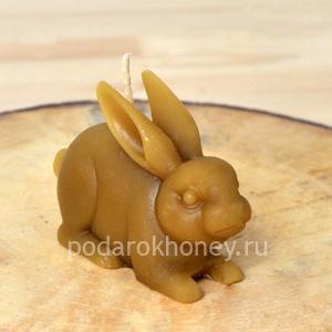 свеча из воска кролик