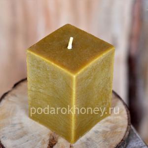 свеча из воска куб