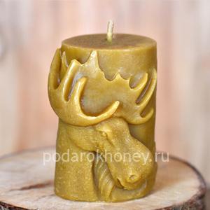 свеча из воска Лось