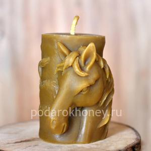 свеча из воска Лошадь