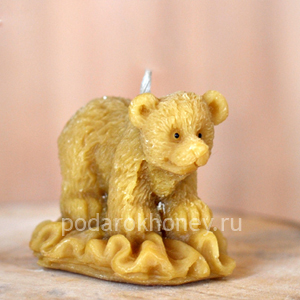 свеча из воска медвежонок