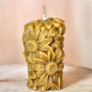 свеча из воска ромашка