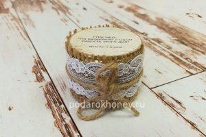 бонбоньерка для свадьбы в стиле рустик