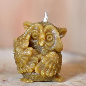 свеча из воска сова
