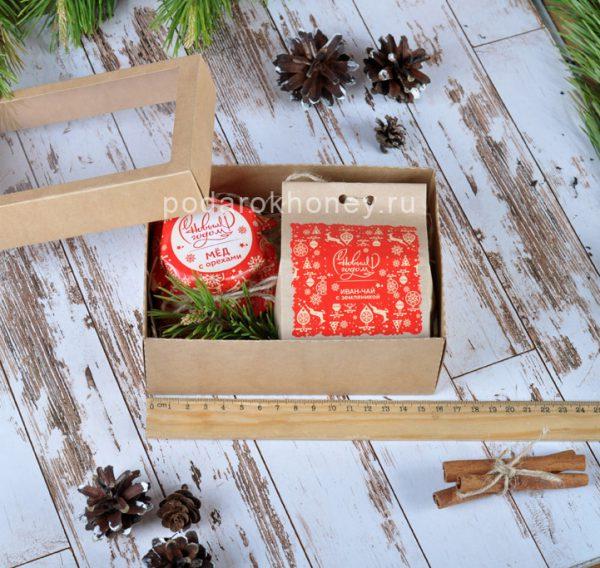 подарочный набор в крафт-коробочке на Новый год
