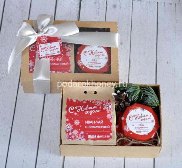 подарочный набор в крафт коробочке на новый год