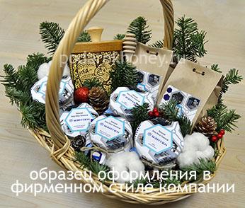 брендированная корзина на Новый год образец