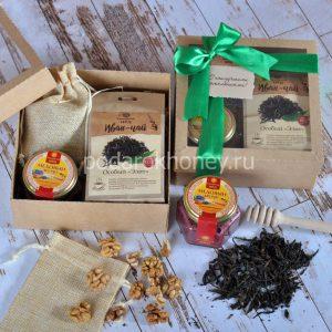подарочный набор мед чай грецкие орехи