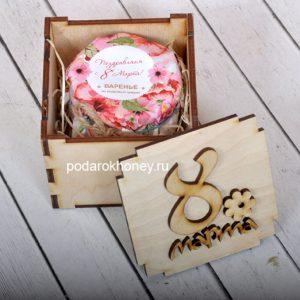 коробочка с медом на 8 марта