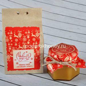 подарочный набор в целлофане чай мед