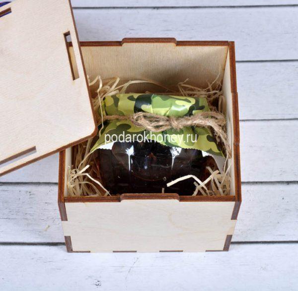 варенье в деревянной коробочке на 23 февраля
