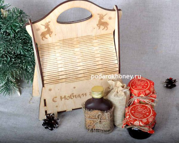 новогодняя сумочка с медом