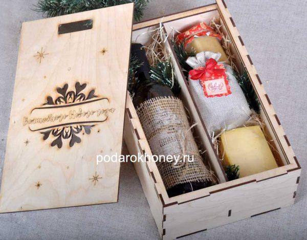 подарочный набор с сыром и медом