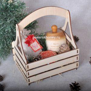 ящик с подарками на новый год