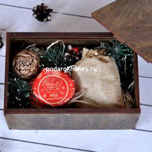 подарочный набор с чаем и медом vip