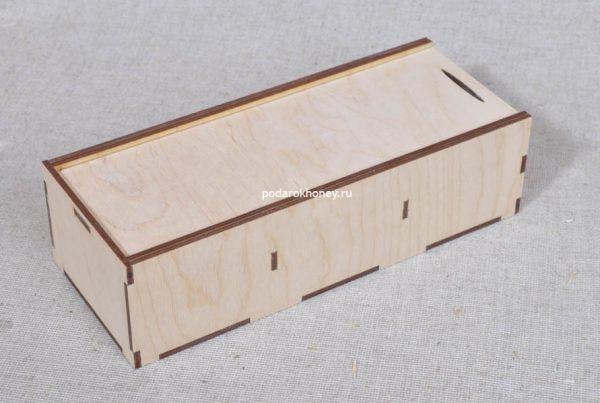 деревянный пенал для подарков